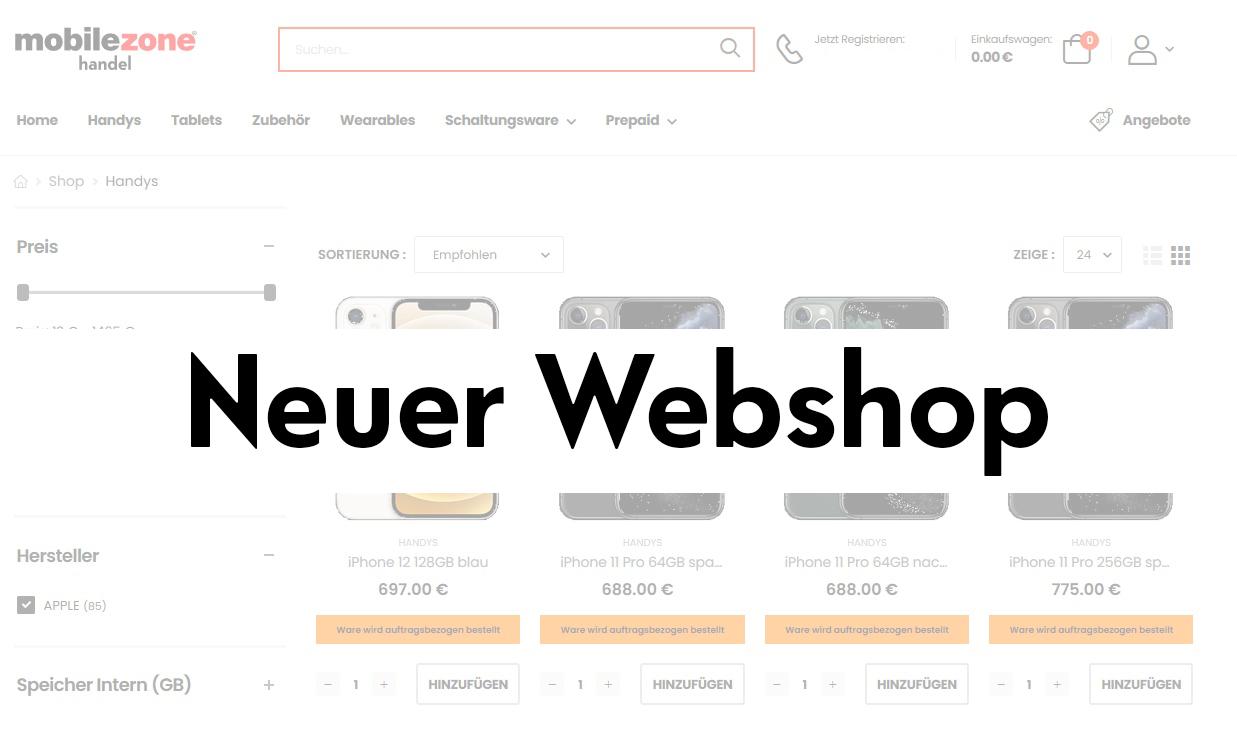 Unser neuer Hardware Webshop für Sie!
